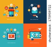 set of flat design concept... | Shutterstock .eps vector #175959722