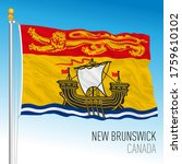 new brinswick official flag ... | Shutterstock .eps vector #1759610102