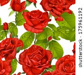 Luxury Seamless Pattern Of Red...