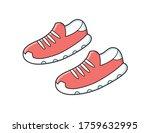 modern red running sport...   Shutterstock .eps vector #1759632995