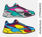 vector lifestyle sneakers ... | Shutterstock .eps vector #1759646342