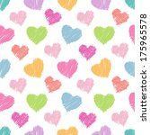 seamless hearts pattern. hand...   Shutterstock .eps vector #175965578