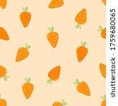 fresh carrot seamless pattern.... | Shutterstock .eps vector #1759680065