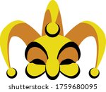 a jester mask and hat  vector... | Shutterstock .eps vector #1759680095