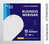 live webinar invite template.... | Shutterstock .eps vector #1759692635