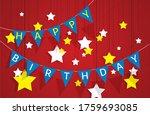 decorative pennant garland... | Shutterstock .eps vector #1759693085