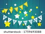 decorative pennant garland ... | Shutterstock .eps vector #1759693088