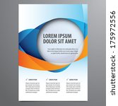 business flyer  brochure vector ... | Shutterstock .eps vector #175972556