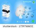set of n95 surgical mask or...   Shutterstock .eps vector #1759768652