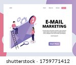 isometric landing page of email ... | Shutterstock .eps vector #1759771412