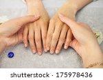 spa salon. manicure. peeling. | Shutterstock . vector #175978436