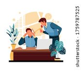 a portrait of an angry boss to... | Shutterstock .eps vector #1759787525