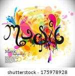 music theme background with... | Shutterstock .eps vector #175978928