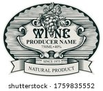 Wine Label With A Bunch Of...