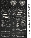 chalk valentine's day design... | Shutterstock .eps vector #175986992