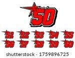 numbers race icon vectors. set...   Shutterstock .eps vector #1759896725