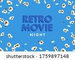 retro movie night banner design.... | Shutterstock .eps vector #1759897148