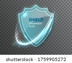 glass transparent shield....   Shutterstock .eps vector #1759905272
