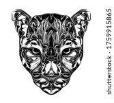 tiger head abstract art  tattoo | Shutterstock . vector #1759915865