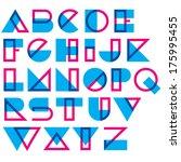 geometric type. blended lines... | Shutterstock .eps vector #175995455