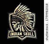 Skull Head Chief Indian  Design ...