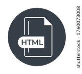 html icon. html file format...   Shutterstock .eps vector #1760073008