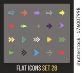 flat icons set 28   signs arrows