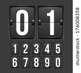 countdown timer  white color... | Shutterstock .eps vector #176008358
