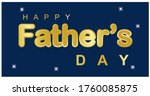 happy father's day. with a... | Shutterstock .eps vector #1760085875