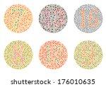 ishihara test. daltonism color... | Shutterstock .eps vector #176010635