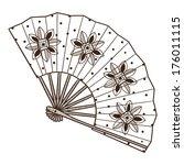 Lady's Fan With Pattern. Sketch ...