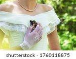 Vintage Bride In A Pearl...