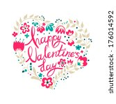 calligraphy for valentine's day.... | Shutterstock . vector #176014592