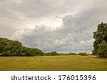 Landscape In A Cloudy Day From...