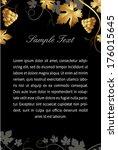 set of gold design wine labels... | Shutterstock .eps vector #176015645