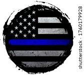 thin blue line grunge american... | Shutterstock .eps vector #1760179928