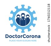 doctor corona vector logo... | Shutterstock .eps vector #1760212118