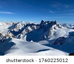 Mountains Covered By Snow In...