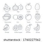 chilean and latin fruit icons   Shutterstock .eps vector #1760227562