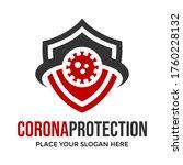 corona protection vector logo... | Shutterstock .eps vector #1760228132