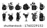 christmas hot drink silhouette... | Shutterstock .eps vector #1760229152