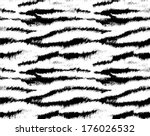 Tiger skin seamless pattern, animal background, vector illustration - stock vector