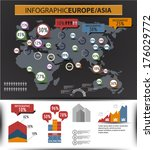 set elements of infographics.... | Shutterstock .eps vector #176029772
