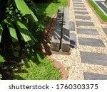 Walkway Uses Alternating Stone...