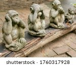 Three Monkeys In The Temple