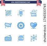 9 Usa Blue Pack Of Independenc...