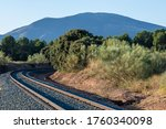 Curved Train Tracks Between...
