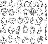 vegetables vector drawing... | Shutterstock .eps vector #1760358965