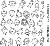 vegetables vector drawing... | Shutterstock .eps vector #1760358968