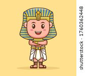 Pharaoh Cute Cartoon Character...